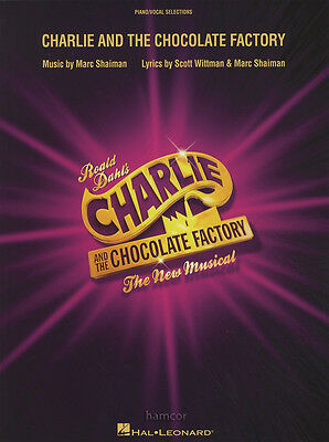 Charlie and the Chocolate Factory Piano Vocal Sheet Music Book Musical