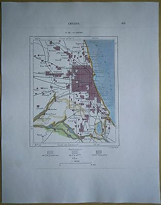 1892 Perron map CHICAGO, ILLINOIS (#107)