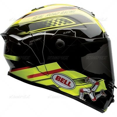 New Bell Star Isle Of Man Motorcycle Racing Helmet Size Large Free Shipping