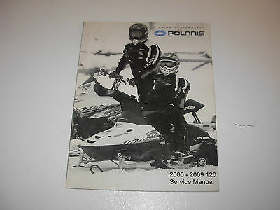 2000-2009 Polaris 120 Snowmobile Factory Service Manual with CD , p/n 9922000