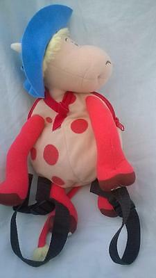 Official Label Magic Roundabout Ermintrude Backpack Soft Toy 35cm Excellent gX
