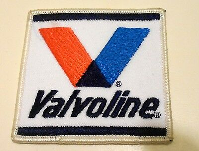 Valvoline Patch Embroidered Oil 3 inches Original Vintage Iron on