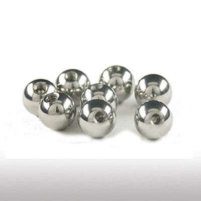 Acier Piercing Boule 1,2mm Filetage Boule à visser en 2,5/3/4/5mm TOP AFFAIRE !