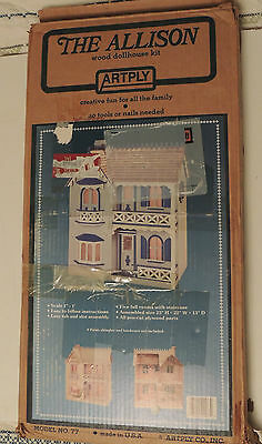 Vintage The Allison Artply Wood Doll House Kit Model #77 New In The Box