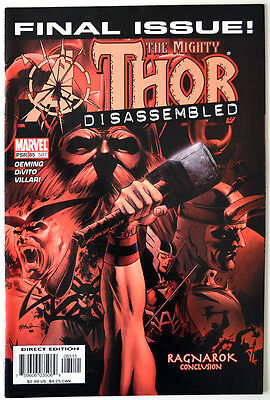 Thor 587 FINAL ISSUE Avengers Disassembled Michael Avon Oeming