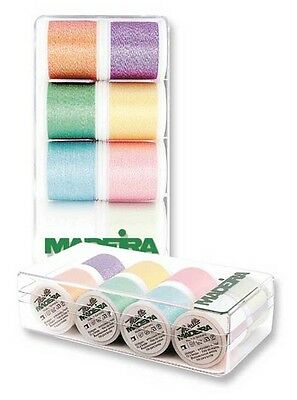Madeira 8010 | Assorted Metallic Opal Shades Machine Embroidery Thread 200m x 8