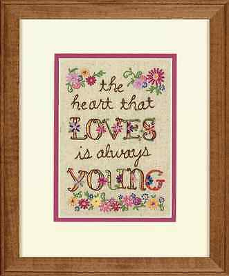 Dimensions D71-06241 | Young At Heart Picture Crewel Embroidery Kit | 5 x 7in