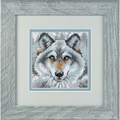 NEW Dimensions D07211 Mini Kit 14 Mesh Canvas Call Of The Wolf Tapestry Kit 13cm