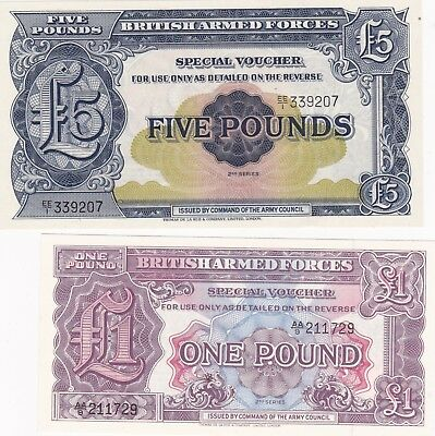 2 Military Armed Forces Banknotes In A Picture Frame