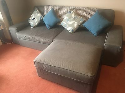 IKEA 3 Seater Sofa Bed & Footstool With Storage • £262 00 Pic UK