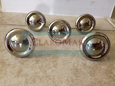 ☀ New Lot 5 Vintage Style Retro Chrome Drawer Knobs Pulls Cabinets Shiny
