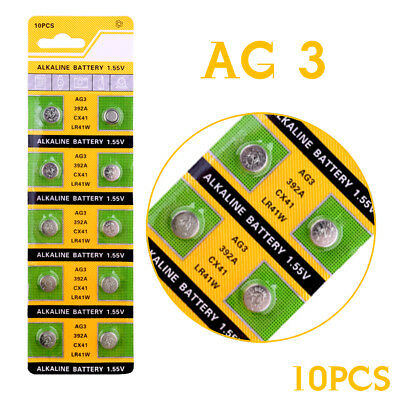 Alkaline Battery 1.55V G3 AG3 LR41 LR736 V3GA SR41 192 392 Button Cell Coin x10