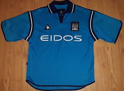 "Manchester City 2002/03 Home Football Shirt 34""-36"" Small"