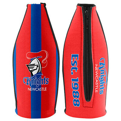 Newcastle Knights NRL TALLIE LONG NECK Beer Wine Bottle Zip Cooler Man Cave
