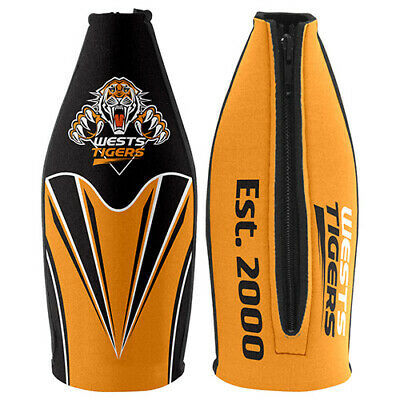 Wests Tigers NRL TALLIE LONG NECK Beer Wine Bottle Zip Cooler Man Cave Bar