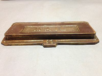 Antique Vintage Cast Brass Letter Door Mail Slot Part