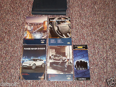 2013 Land Rover Evoque Suv Owners Manual Books Nav Guide Case All Models