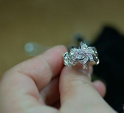 Elegant Lord Of The Ring Nenya Galadriel's Zircon Solid 925 Sterling Silver Ring