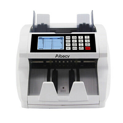 Money Bill Currency Counter UV MG IR Detector Mix Value & Mix Cash Counting LCD#