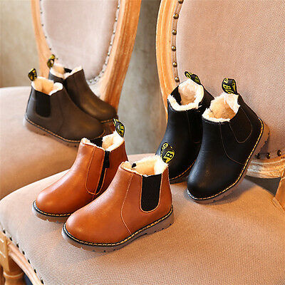 2017 Winter Children Kids Warm Boots Snow Baby Toddler Boys Girls Faux Fur Shoes