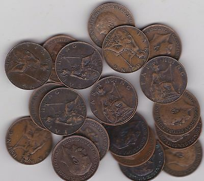 20 Key Date Farthings Dated 1911 And 1912 In Very Fine Or Better Condition