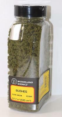HO OO Woodland Scenics Olive Green Bushes & Shaker 57.7in³ FC1644 FNQHobbys