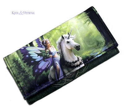 Anne Stokes Realm Of Enchantment Fairy Unicorn Mythical Wallet Purse