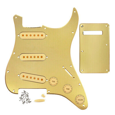 Guitar SSS Pickguard Back Plate & Knobs /Tips /Pickup Covers for FD Strat Guitar