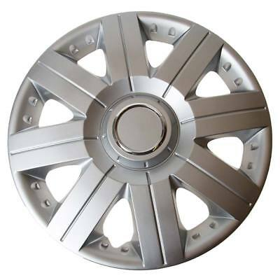 Torque 16 Inch Wheel Trim Set Silver Set of 4 Hub Caps Covers - TopTech
