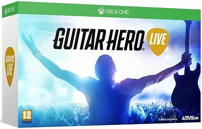 Xbox One Guitar Hero Live Bundle with Guitar Controller Game New and Sealed