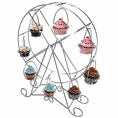 Hilly's Kitchen - Metal FERRIS WHEEL CUPCAKE STAND Holds 8 Cupcakes