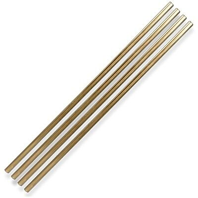 W&P Design Metall Strohhalme Gold 4er-Set (lang)
