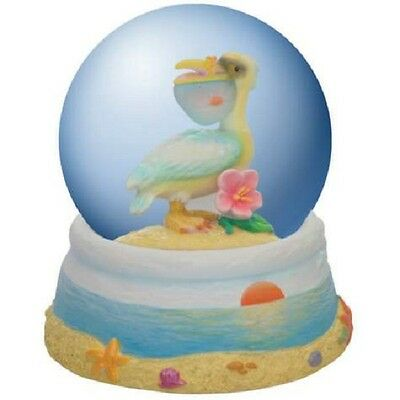 Nora Butler Beach Comber Pelican Snow Water Globe by Westland Giftware