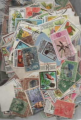 Trinidad & T Kiloware off paper 50gms fine used excellent selection 150+ stamps