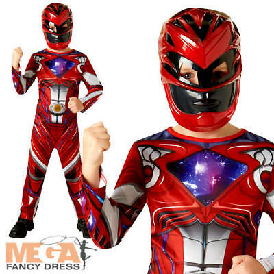 Power Rangers Movie Red Ranger Childs Fancy Dress Movie Character Boys Costume