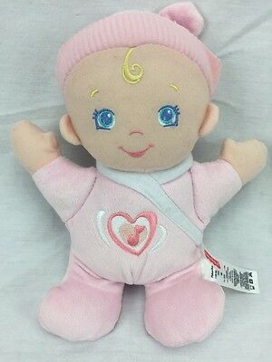 Fisher Price Hug n Giggle Musical Plush Pink Baby Doll Toy Cute 2010 Mattel