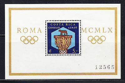 Costa Rica 1960 Summer Olympics MS  Sc C313  complete mint never hinged