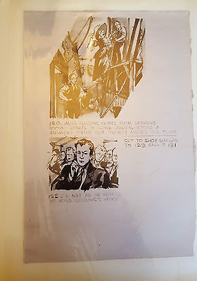 All Over Town 1949 British Film Continuity Sketches Story Boards