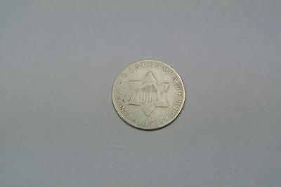 1853 3 Cent Silver Coin, Cleaned Fine/VF Condition - C2686