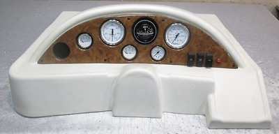 Off White Voyager Pontoon Boat Instrument Cluster Console prewired Switches