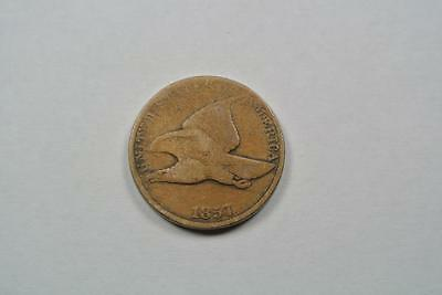 1857 Flying Eagle One Cent Penny, VG Condition - C2728
