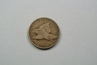 1858 Flying Eagle One Cent Penny, S.L, Fine Condition - C2729