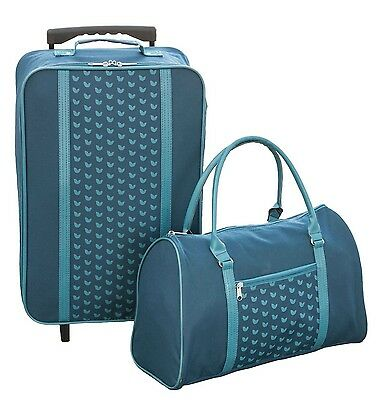 Blue Shopping Tote and Trolley Set Travel Shopping Bag Case Luggage