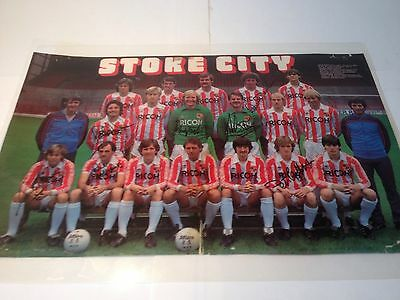 Stoke City Football Club Signed Team Poster 1980's Laminated