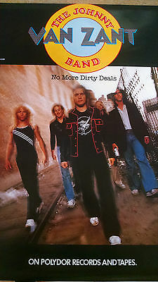 1980 Johnny Van Zant Band No More Dirty Deals  record store promo poster RBX86