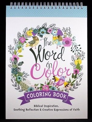 """The Word in Color"" Brand NEW Hardcover Biblical Inspiration Adult Coloring Book"