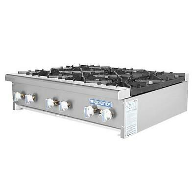 "Turbo Air TAHP-36-6 Radiance 36"" Open Top Hot Plate - Countertop Range"