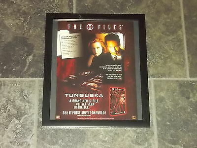 X Files-Tunguska-Original advert framed