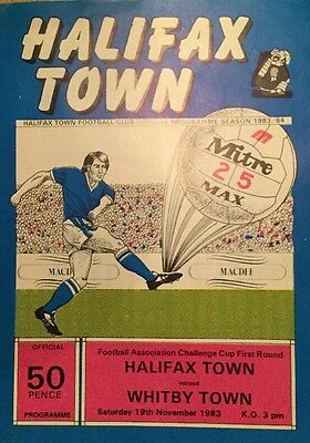 Halifax Town v Whitby Town (FA Cup first round) 1983-84