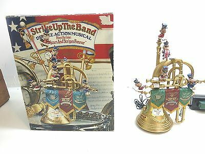 Enesco Strike Up The Band Deluxe Action Musical With Box And Paperwork / Works!!